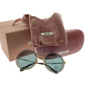 9581b23c3e7 MIU MIU Accessories - MU50QS-ROY3C2 Women s Grey Frame Sunglasses